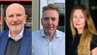 Steve Finlan, Andrew Moss, Lucinda O'Reilly