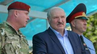 Александр Лукашенко с силовиками