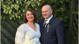 James Huxtable and his wife Ashleigh