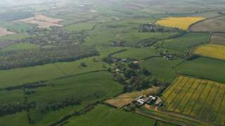 Aerial view of Lincolnshire, near Normanby Le Wold