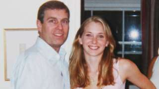 Prince Andrew with Virginia Roberts in 2001