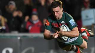 George Ford scored one try and made two others for Leicester