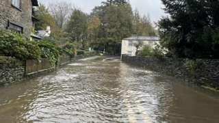Flooding on A591