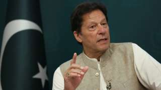 Imran Khan in an older interview with Reuters