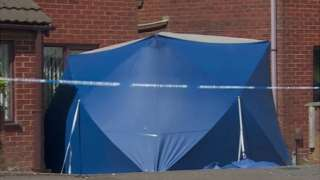 Police forensic tent