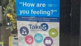 """A wellbeing poster with the question """"how are you feeling?"""""""