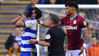 Nelson Oliveira after incident with Tyrone Mings