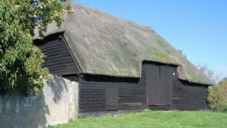 The tithe barn at Landbeach