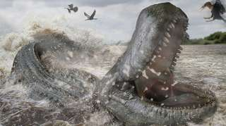 An artist's impression of the Purussaurus brasiliensis