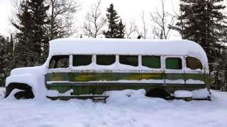 The bus in the snow