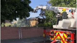House fire in Deepweir