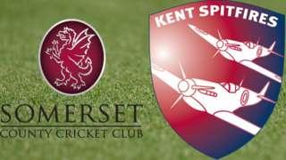 Somerset v Kent badges