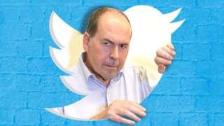 Rory inside the Twitter logo