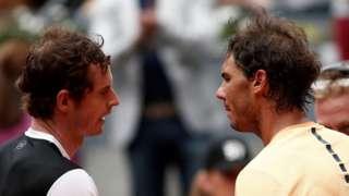 Rafael Nadal and Andy Murray