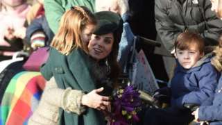 The Duchess of Cambridge and Princess Charlotte meet well wishers