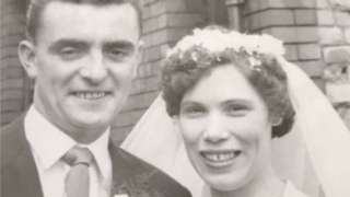 John and Mary Boxer on their wedding day on 23 July 1960
