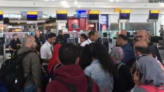 Passengers in Heathrow