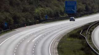 Car on an almost deserted motorway