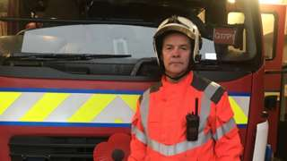 The injured firefighter Paul Marston