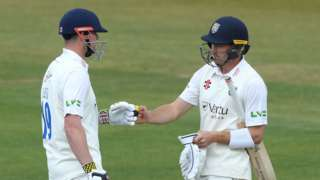 The 208-run stand between Will Young (left) and Alex Lees was the highest opening partnership by Durham against Warwickshire, beating the 202 put on by Graeme Fowler and Wayne Larkins at Feethams, Darlington in 1993