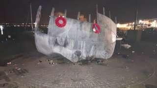 The Merchant Seaman's Memorial in Cardiff Bay