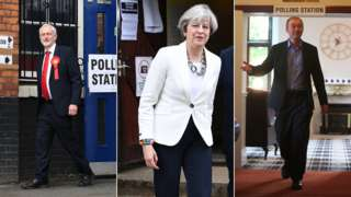 Politicians at polling stations