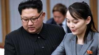 Kim Yo-jong iyo hogaamiyaha Kuuriyada Waqooyi Kim Jong-un
