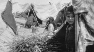 Armenian deportation camp along the Baghdad railway, 1915