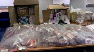Prescription drugs seized as part of Operation Pangea