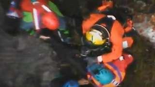 Aerial image of rescue
