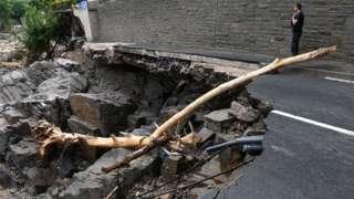 Damaged road in Altenahr