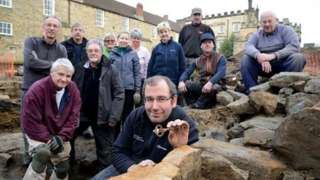 Durham University's Archaeological Services team and volunteers from Auckland Castle Trust