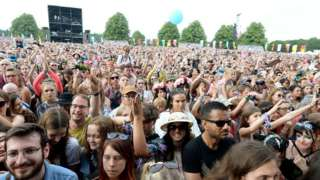 Festival crowd at Latitude