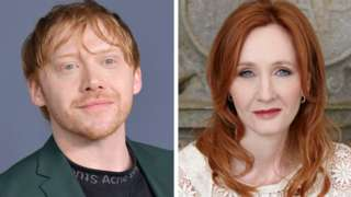 Rupert Grint and JK Rowling