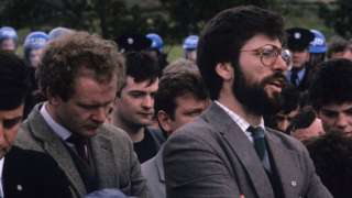 Martin McGuinness and Gerry Adams pictured in 1985