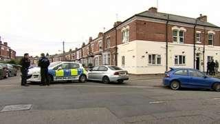 Police in Hunton Road