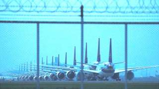 Grounded THAI's aircrafts