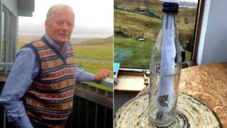 Henry Anderton and message in bottle