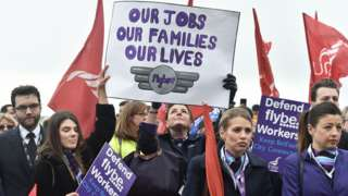 flybe workers protest