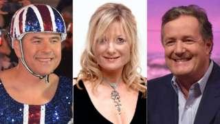 David Walliams, Gaby Roslin and Piers Morgan