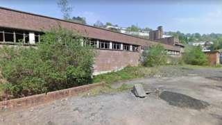 Former pit-head baths in Llanhilleth