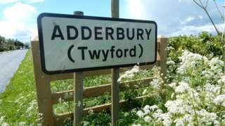 Adderbury sign