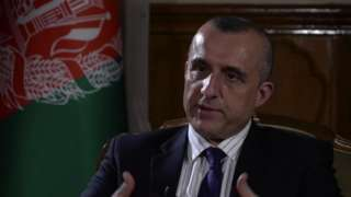 Vice-President Amrullah Saleh speaking to the BBC as 2500 US troops are set to leave Afghanistan