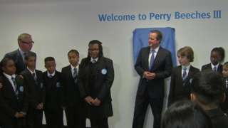 Michael Gove and David Cameron at Perry Beeches