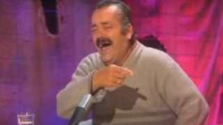 Screenshot showing Juan Joya Borja laughing uncontrollably