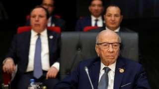 Tunus Cumhurbaşkanı Baci Kaid es-Sibsi