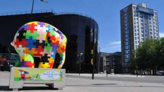 Elmer sculpture in Ipswich, outside the Willis Building