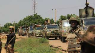 File photo of soldiers in Borno state, Nigeria