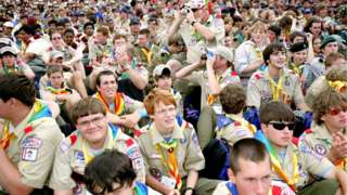 Scouts at the Essex International Jamboree