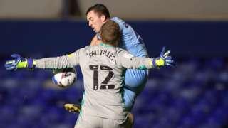 Alex Smithies saves from Jordan Shipley
